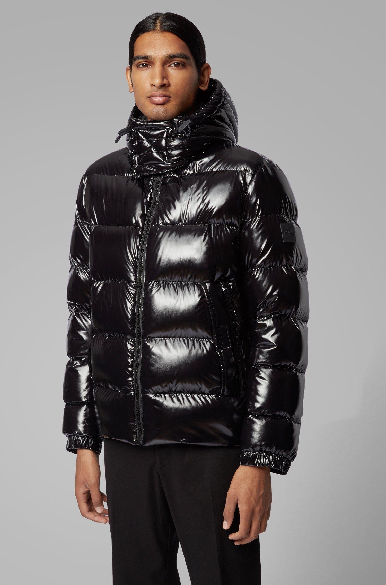 Boss Regular Fit Down Jacket In Lustrous Fabric Down Jacket Jackets Puffy Jacket [ 2275 x 1500 Pixel ]