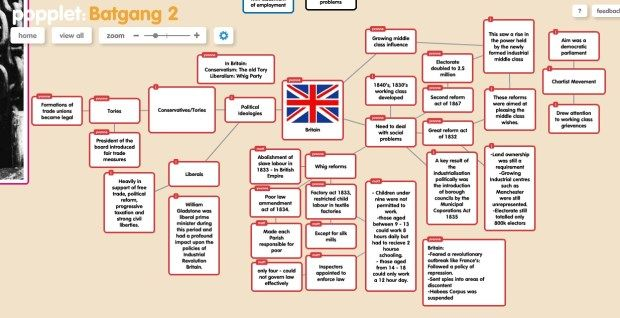 fantastic lesson on using popplet to brainstorm for an essay on the european industrial revolution