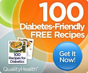 100 Free Recipes for Diabetics www.Dietdecide.com