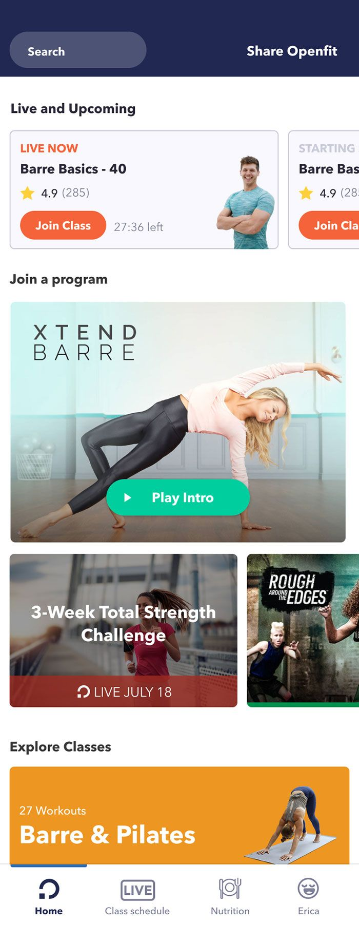 With Openfit Live, you can choose a workout from one of the 350+ weekly group fitness classes and en...