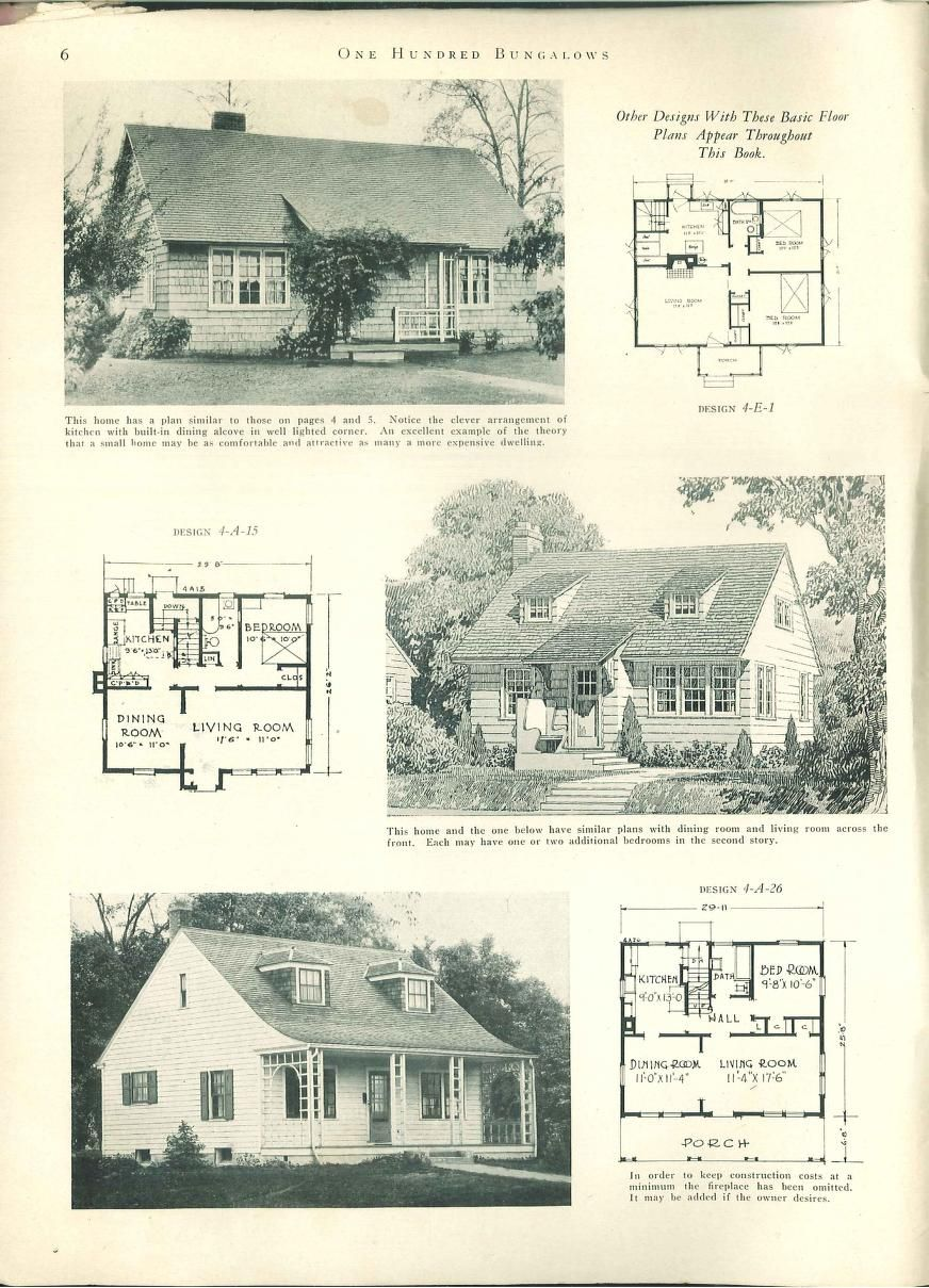 1927//100 bungalows of frame and masonry construction.