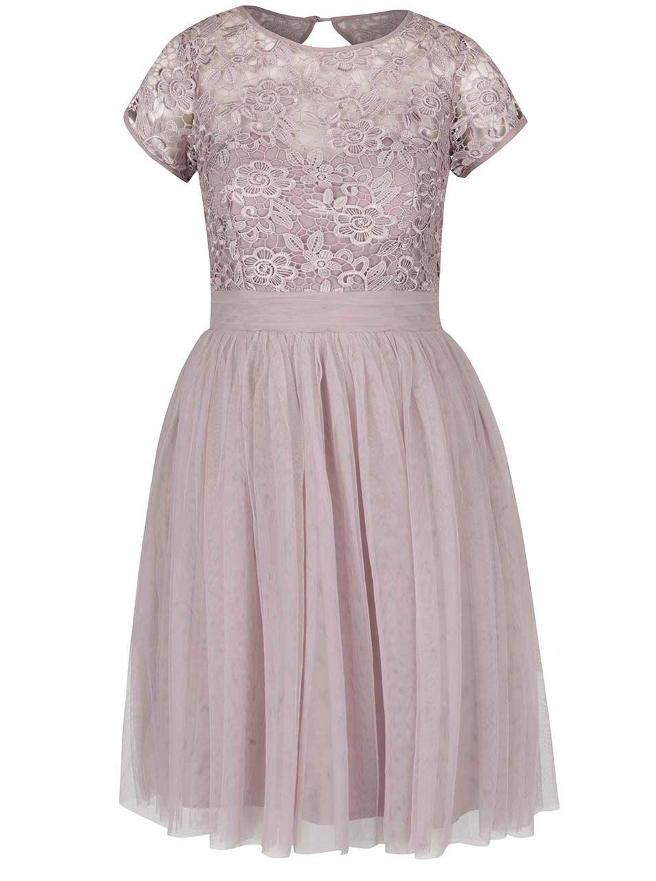 54894c1e5b81 Staroružové šaty s čipkovaným topom Little Mistress