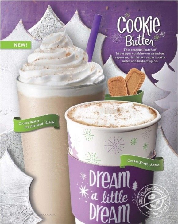 The Coffee Bean Tea Leaf Debuts New Cookie Butter Beverages Leaf Cookies Butter Cookies Holiday Coffee Drinks