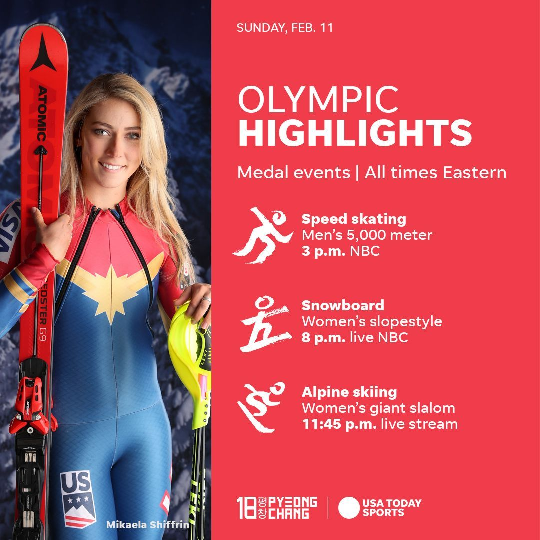 what to watch sunday night at the 2018 winter olympics: handful of