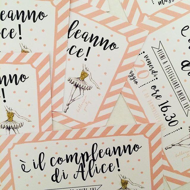 L'invito perfetto per la festa perfetta! #officinapartybox #BallerinaPartyBox #temaballerina #ilcompleannodialice #letsparty