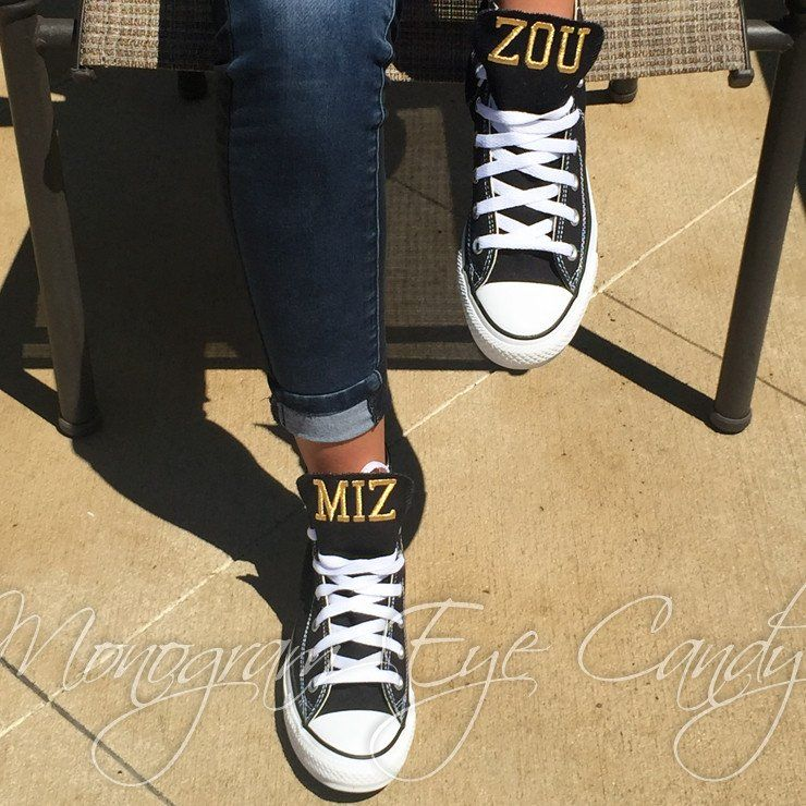 01141b752212 Customized Converse Sneakers-MIZZOU Edition- High Top