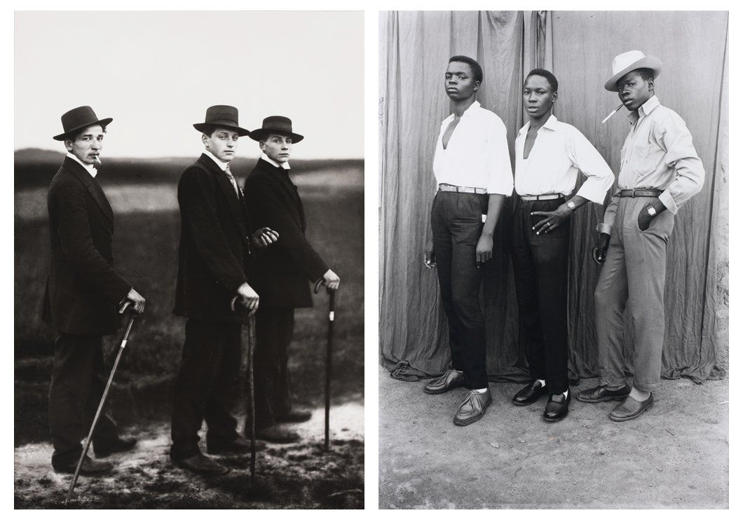 THE WALTHER COLLECTION    L | August Sander,  Jungbauern (Young Farmers), 1914. R | Seydou Keïta, Untitled, 1952-1955.  (Another Africa article on the Walther Collection)