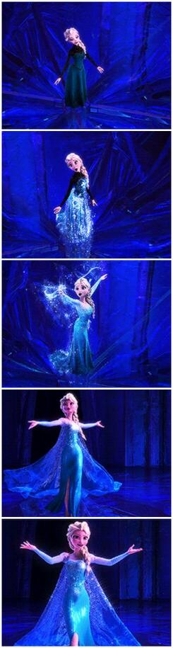 Let it go frozen elsa dress