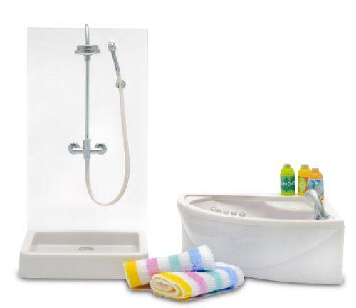 Lundby Dolls House Sink Unit /& Toilet Set Bathroom Furniture 1:18 Scale