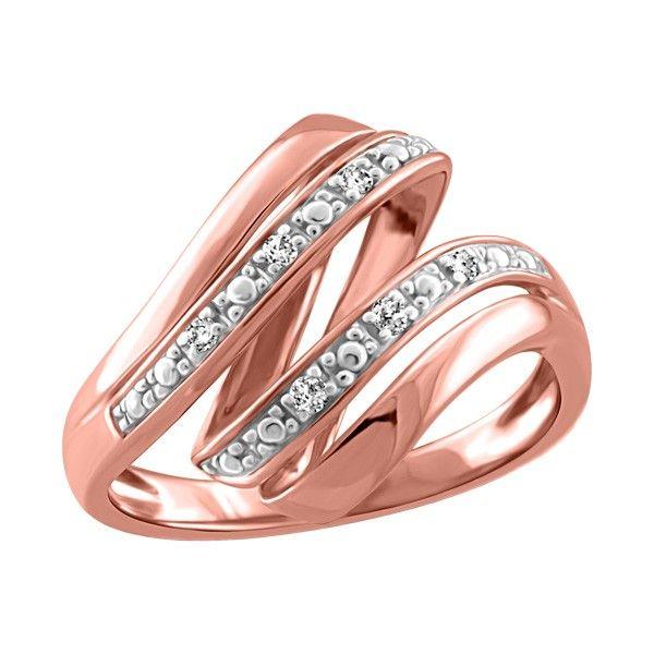 8dc28164a4fd 10KT Rose gold 0.05 ctw diamond ring. Anillos
