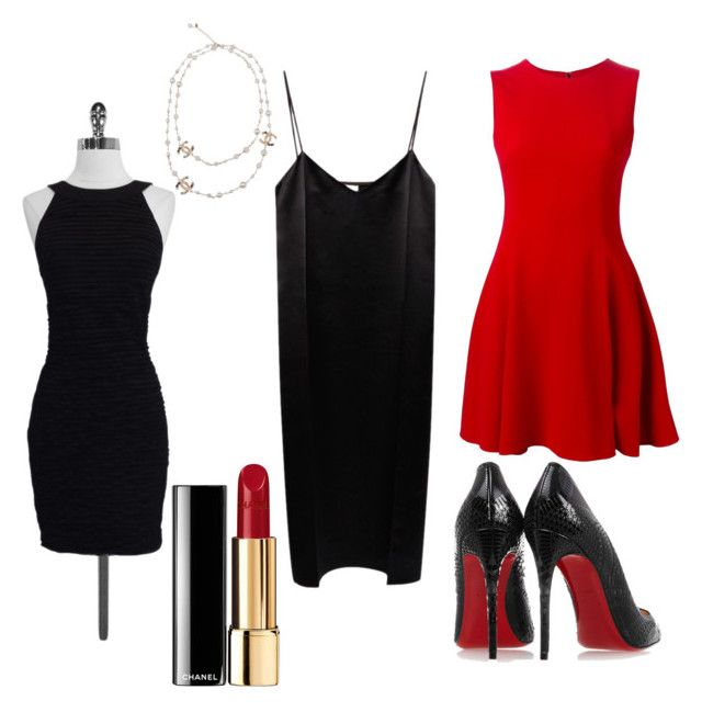 """""""Hot"""" by reneerapp on Polyvore featuring Chanel, Nina Ricci, Dolce&Gabbana and Christian Louboutin"""
