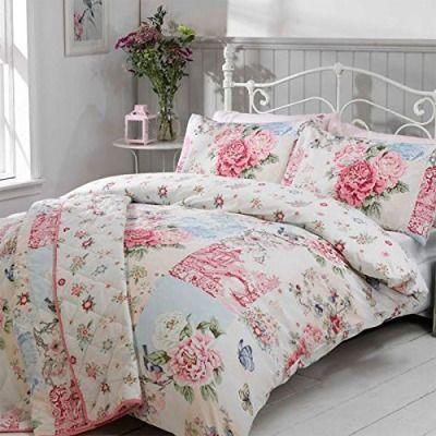 Just-Contempo-trendige-Oriental-Neue-weiche-Blumen-Muster-Bettbezug