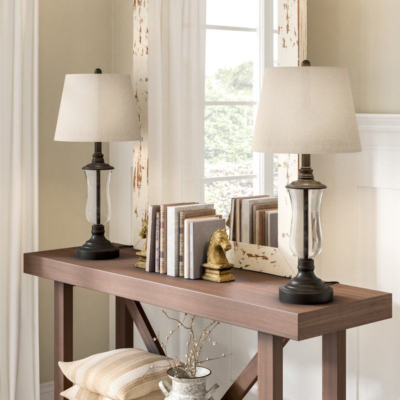 """Bescott 30"""" Table Lamp Set (With images) Farmhouse table"""