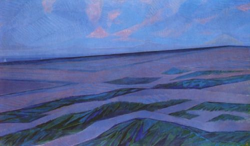 """herzogtum-sachsen-weissenfels: """"Piet Mondrian (Dutch, 1872-1944), Dune Landscape, 1911. Oil on canvas, 141 x 239 cm. """""""