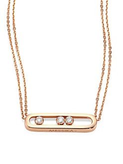 93ecb5aff39dc4 Messika - Move Diamond & 18K Rose Gold Necklace | Valentine's Day in ...