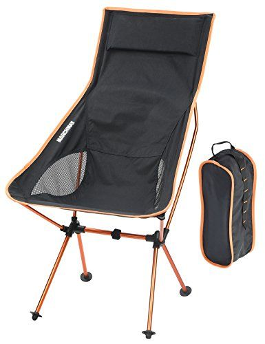 Introducing Marchway Ultra Light Weight High Back Folding Outdoor Camping Chair With Pillow Portable Foldable Heavy Duty Camping Chairs Camping Chair Outdoor