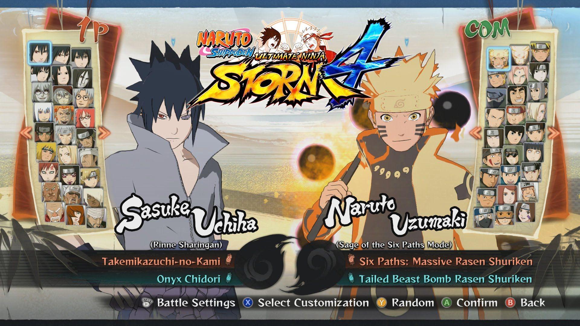 Naruto Shippuden Ultimate Ninja Storm 4 All Characters Costumes