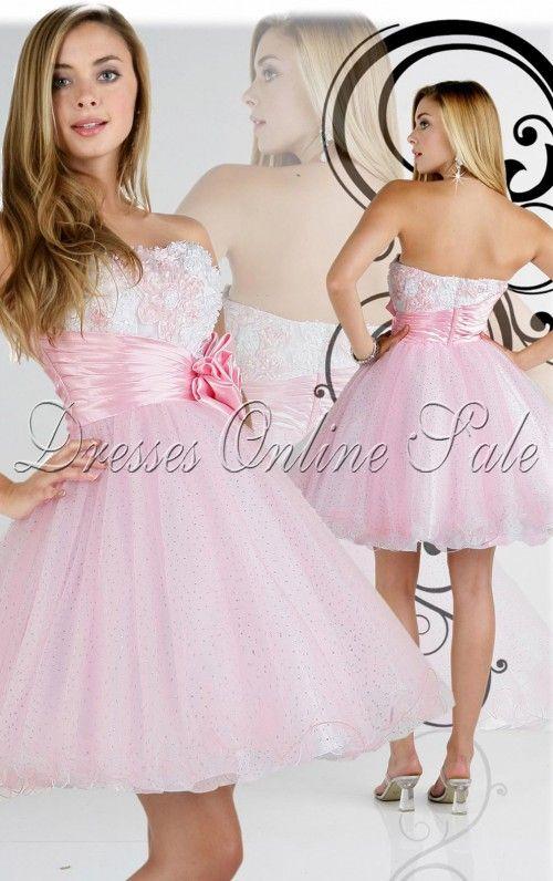 Prinzessin-Stil Kurz Herzförmiger Ausschnitt Kleid | Ballkleider ...