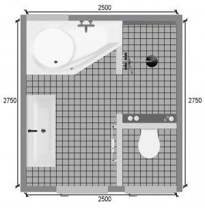 Plattegrond kleine badkamer pimp apartment pinterest mirror mirror firs and living spaces - Klein badkamer model ...