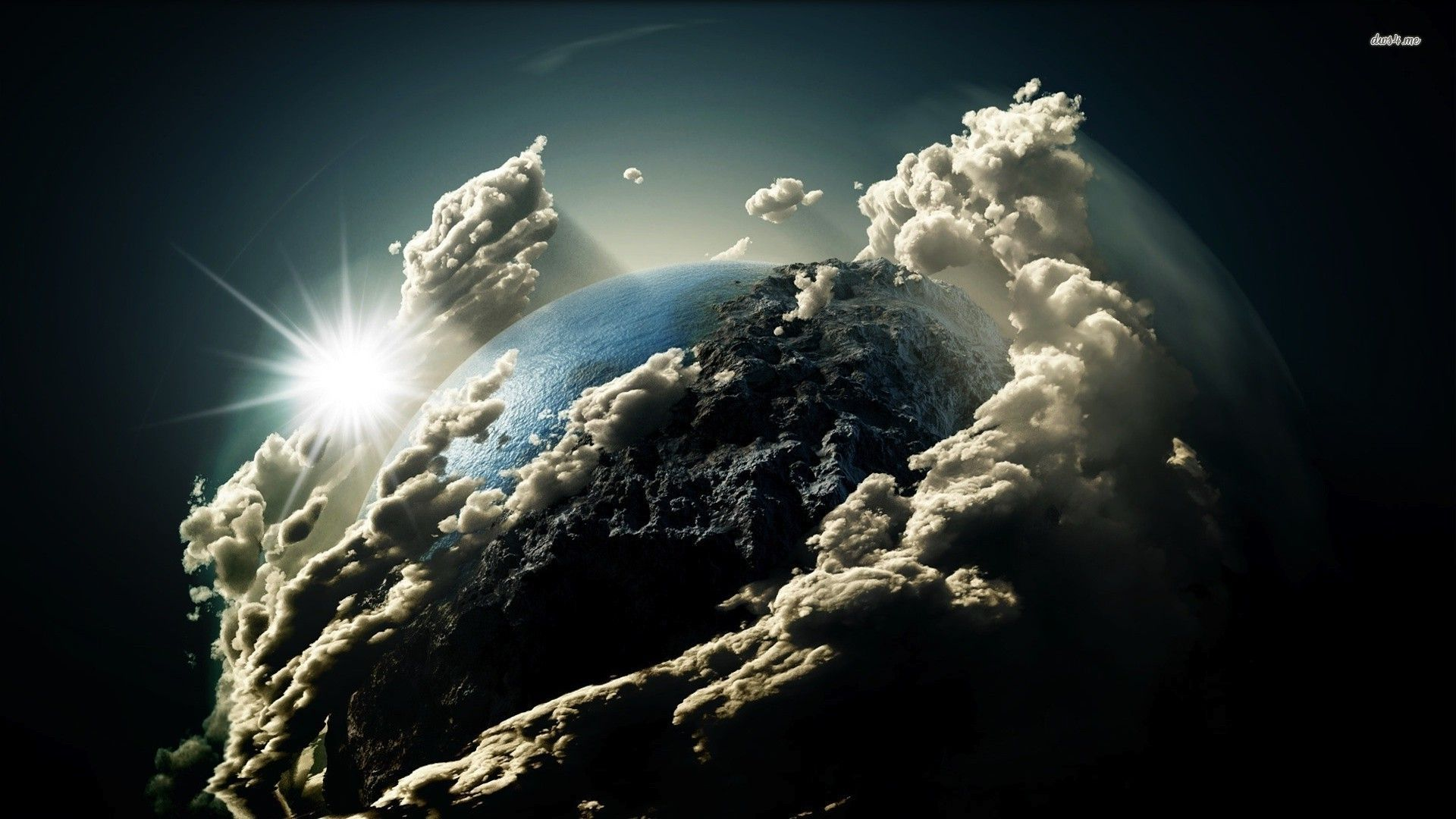 Earth Clouds Wallpaper 1920x1080 Clouds around the