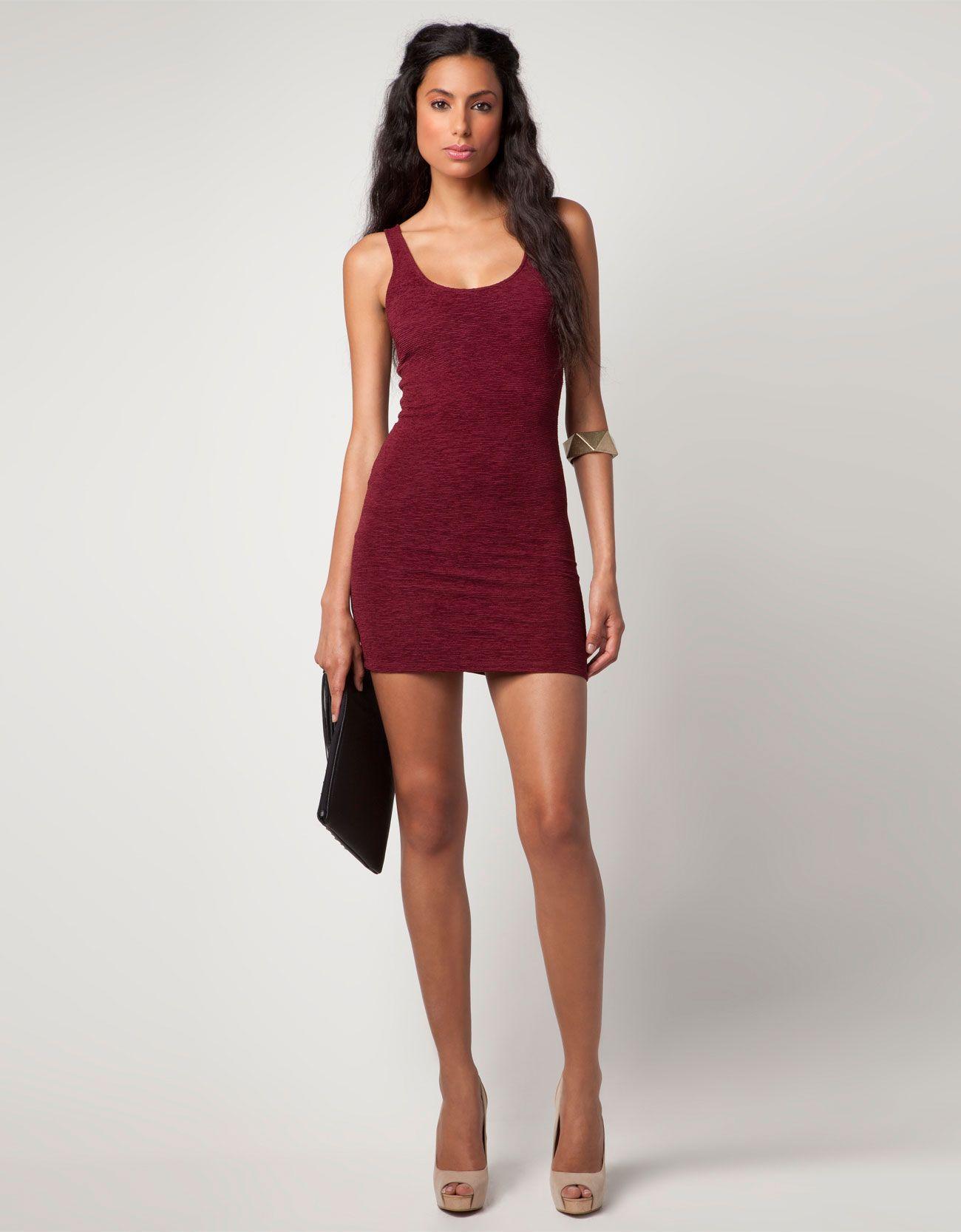 3b208af35 Bershka México - Vestido Bershka elástico   S T Y L E D   Dresses ...