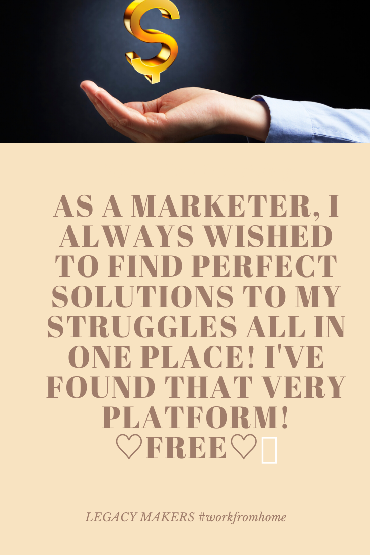 As a marketer, I always wished to find perfect solutions to my struggles all in one place! I've found that very platform! ♡FREE♡💥#opportunity #community #family #support #freeplatform #marketer #marketing #trading #opportunities #communities #themix #makingithappen #resultsdriven #onlinemarketing #trading4success #communities #happiness #workfromhome #onlinebusiness #lifestyle4you #makemoney #successfultrading #challenges #training #support4YOU