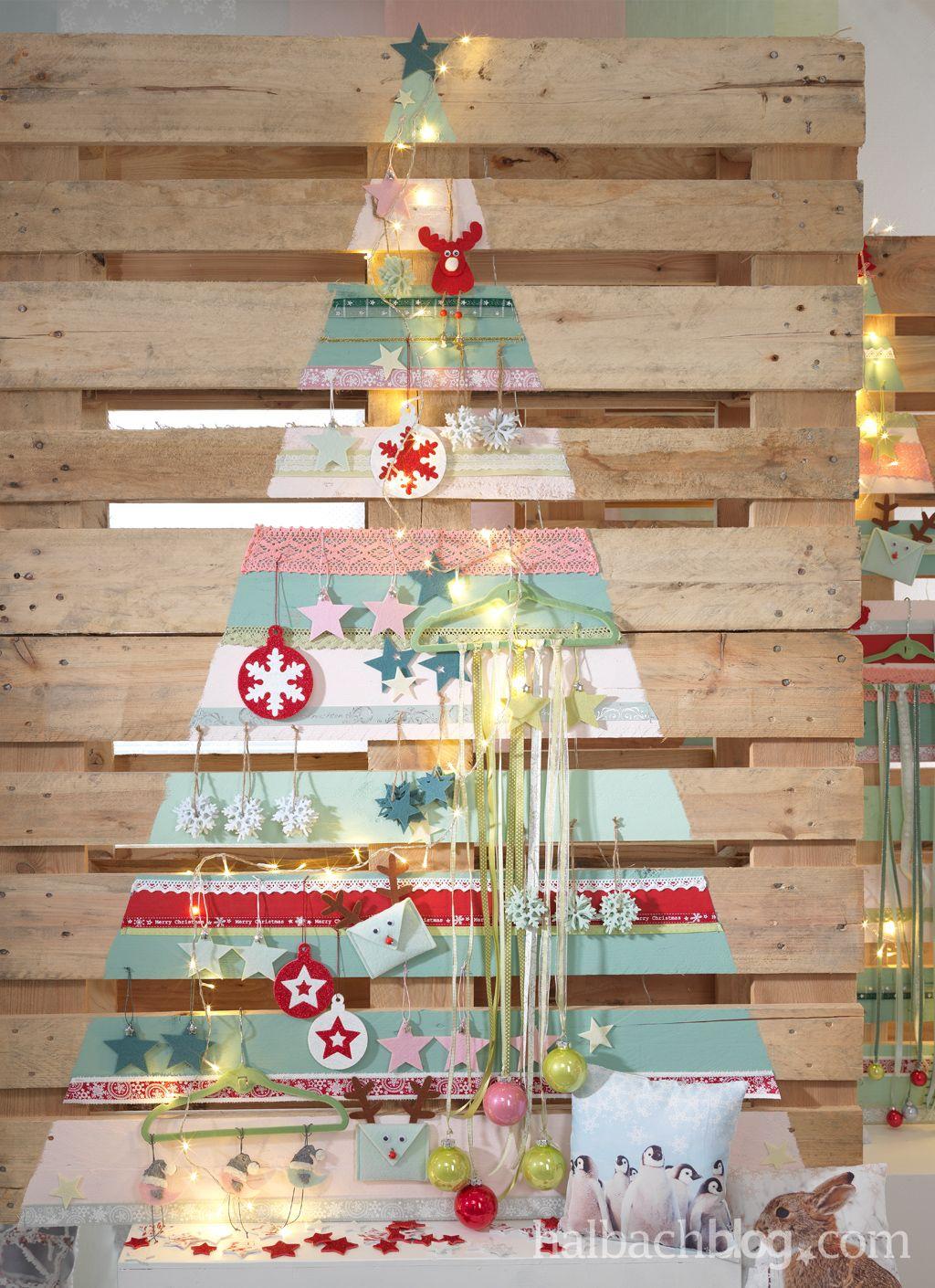 alternative weihnachtsbaum ideen i palette i bunte. Black Bedroom Furniture Sets. Home Design Ideas