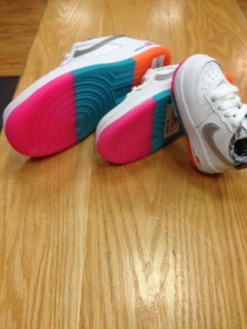 NIKE AIR FORCE ONE SNEAKER GS Preschool Toddler Fruity Pebbles Color Gums  3C-7Y #