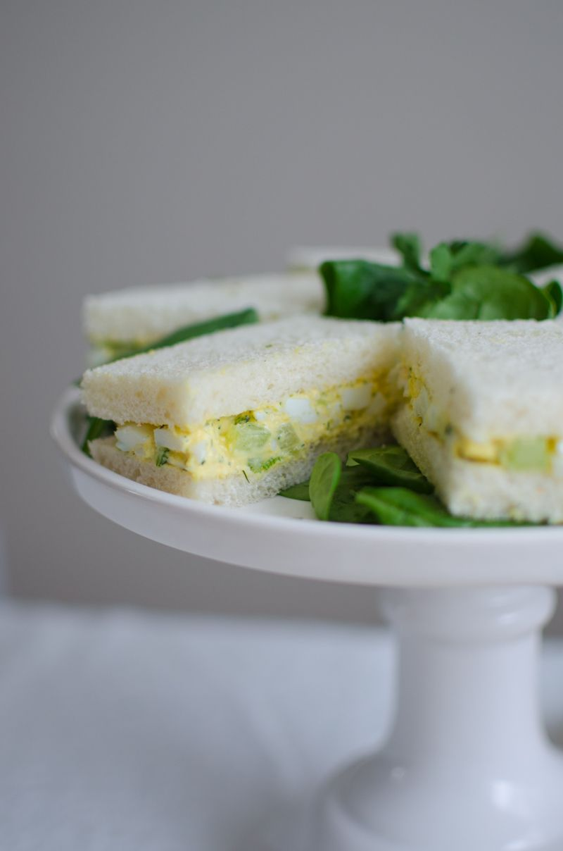 Egg Salad Tea Sandwiches | Sprig and Flours-9