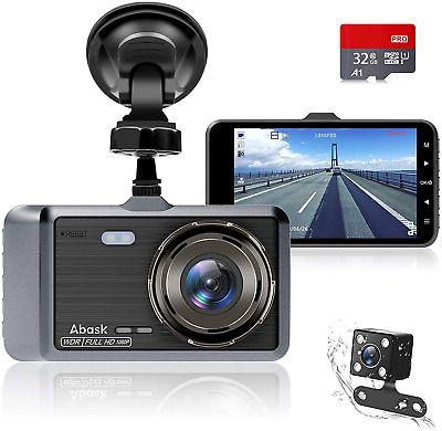 Dash Cam Front and Rear Camera, Abask Dash Cam 1080P Full HD, Dash Camera 4 Inch | eBay