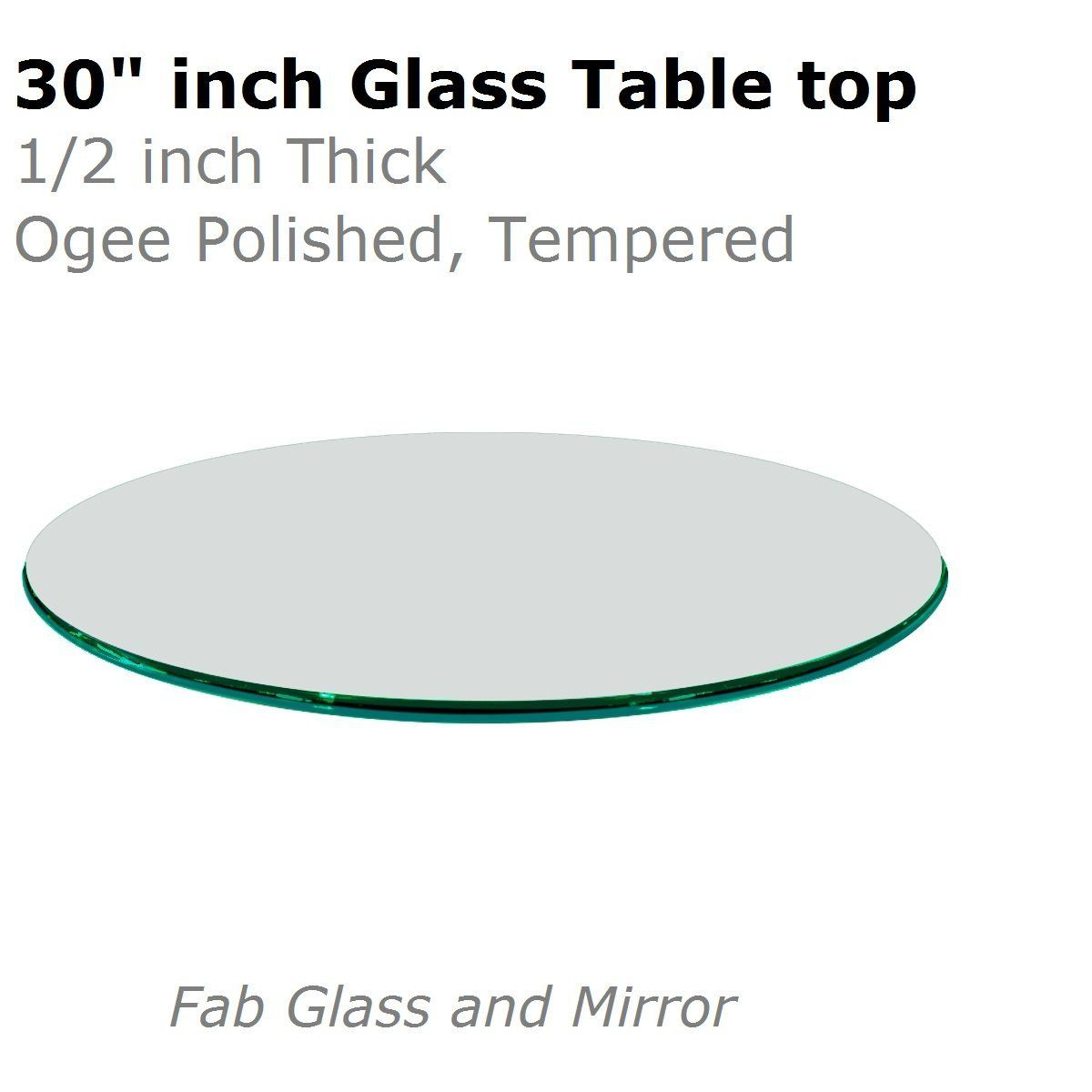 Glass Table Top 30 Inch Round 1 2 Inch Thick Ogee Tempered Check Out This Great Image Fo Glass Top Table Round Glass Table Top Tempered Glass Table Top 30 round glass table top