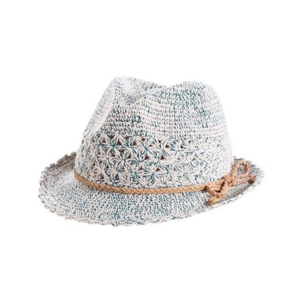Women's Acorn Shiloh Fedora - Turquoise Fedoras (40 CAD) ❤ liked on Polyvore featuring accessories, hats, turquoise and fedora hat