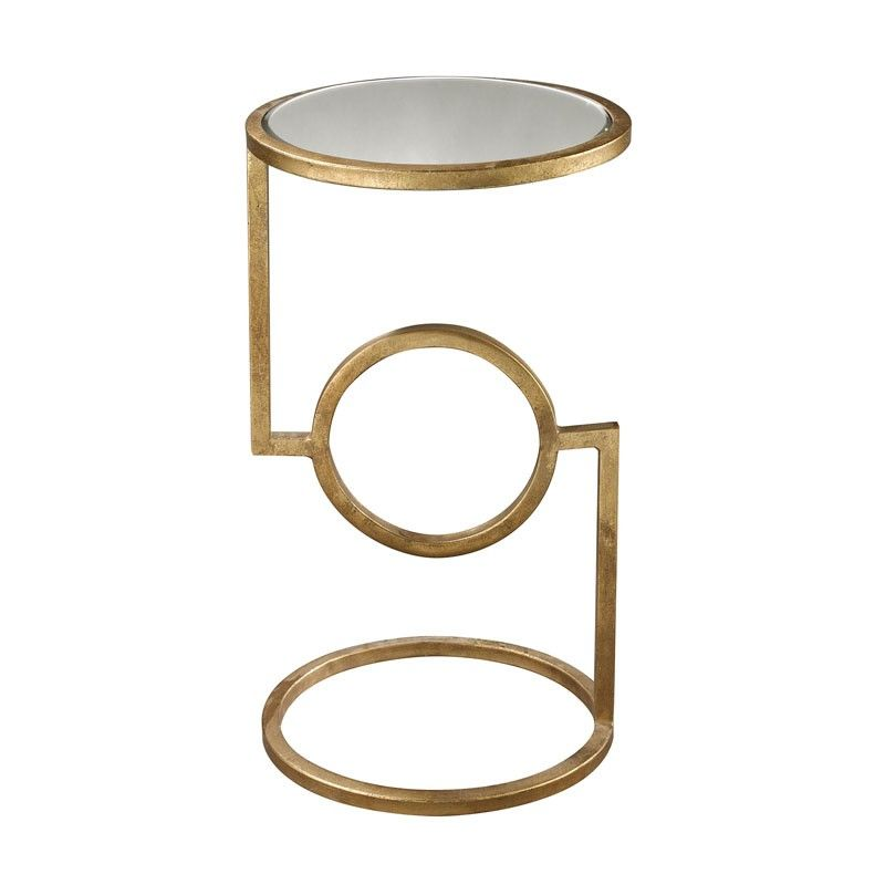 The Unique Base Design Of Our Camrina Accent Table Features A Circular Foundation With Angular Lines And A Radial Fo With Images Side Table Antique Gold Mirror Mirror Tops