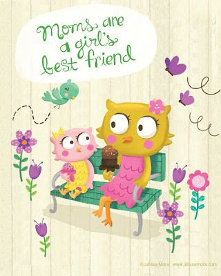 We Love to Illustrate: FREE Printable Mothers Day cards!