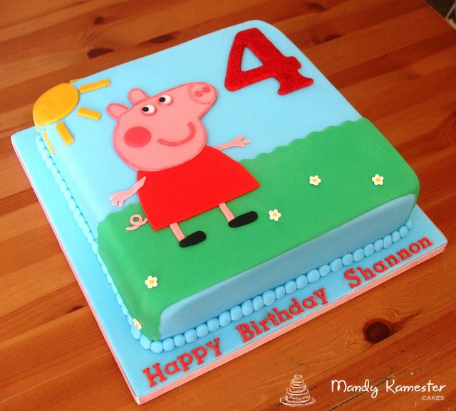 Groovy Peppa Pig Cake Peppa Pig Birthday Cake Pig Birthday Cakes Personalised Birthday Cards Arneslily Jamesorg