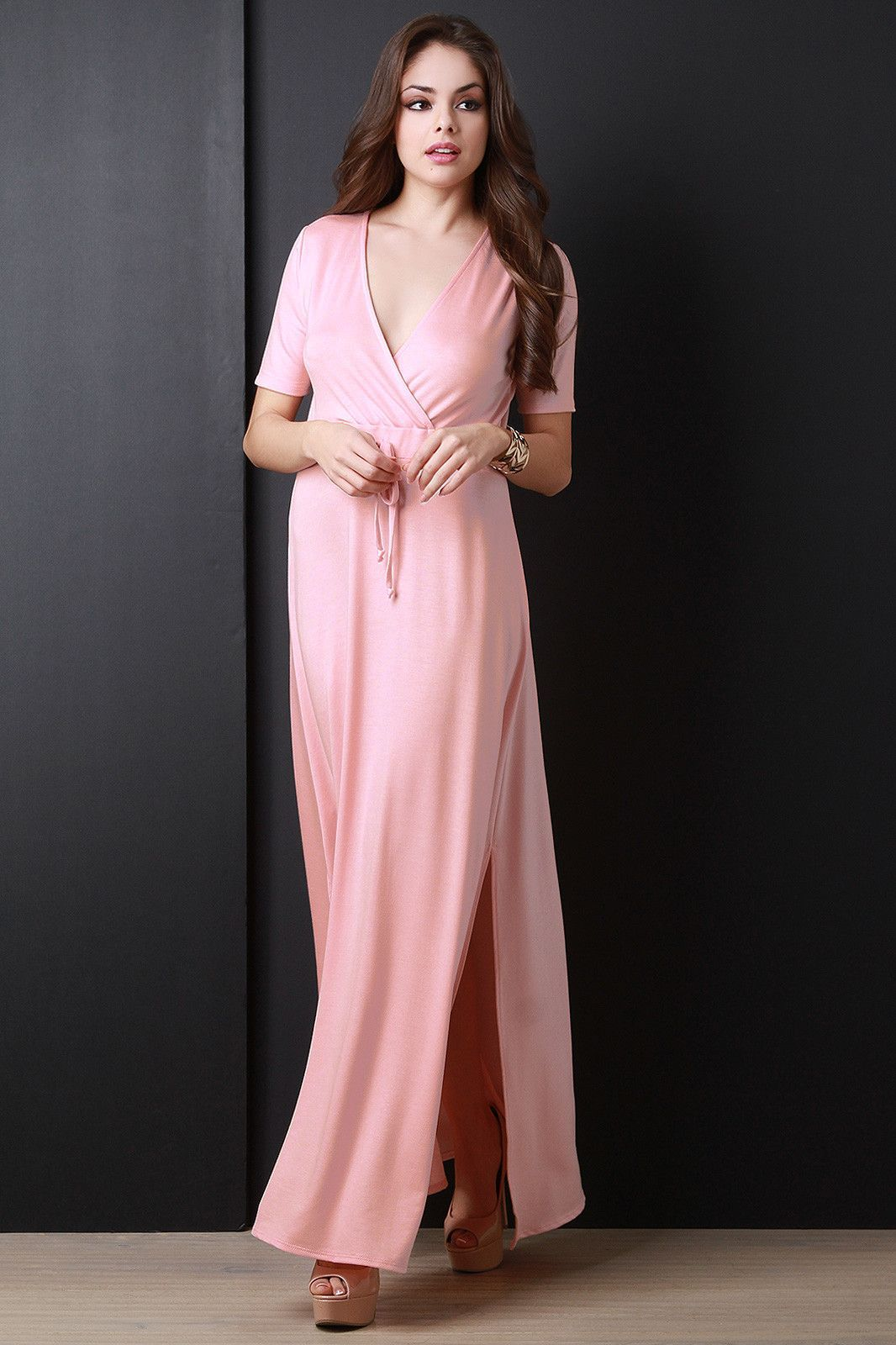 Surplice short sleeve maxi dress shorts maxis and dresses