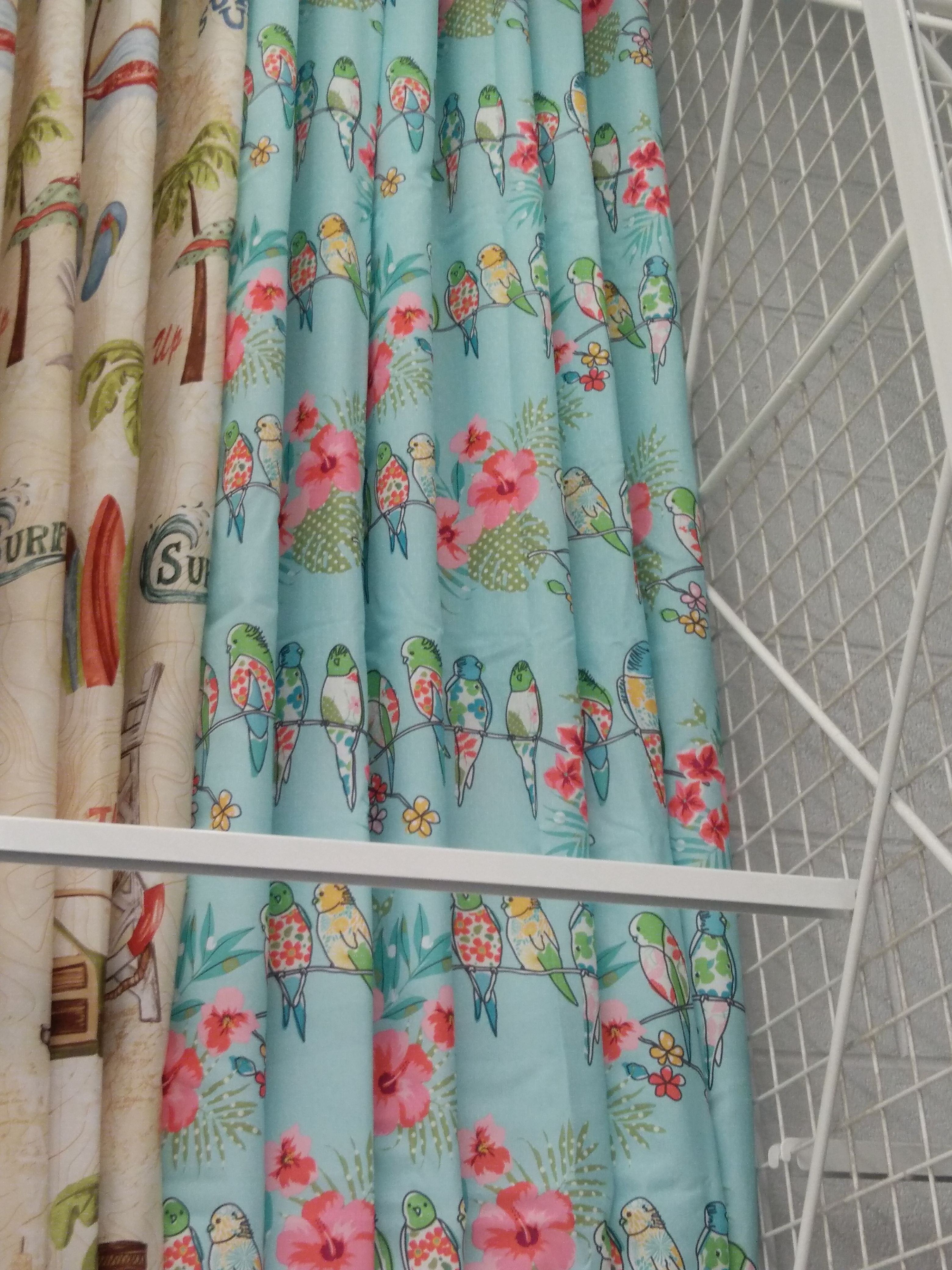 Love this bird shower curtain at Bed Bath & Beyond. | Camper ...