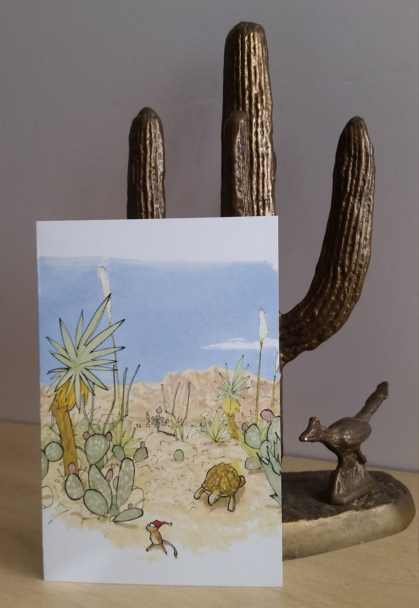 Southwestern Holiday Cards Set of 6 Handmade Desert Southwest ...