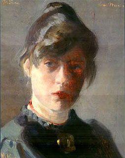 MarieKroyer-selfportrait - Marie Krøyer - Wikipedia, den frie encyklopædi