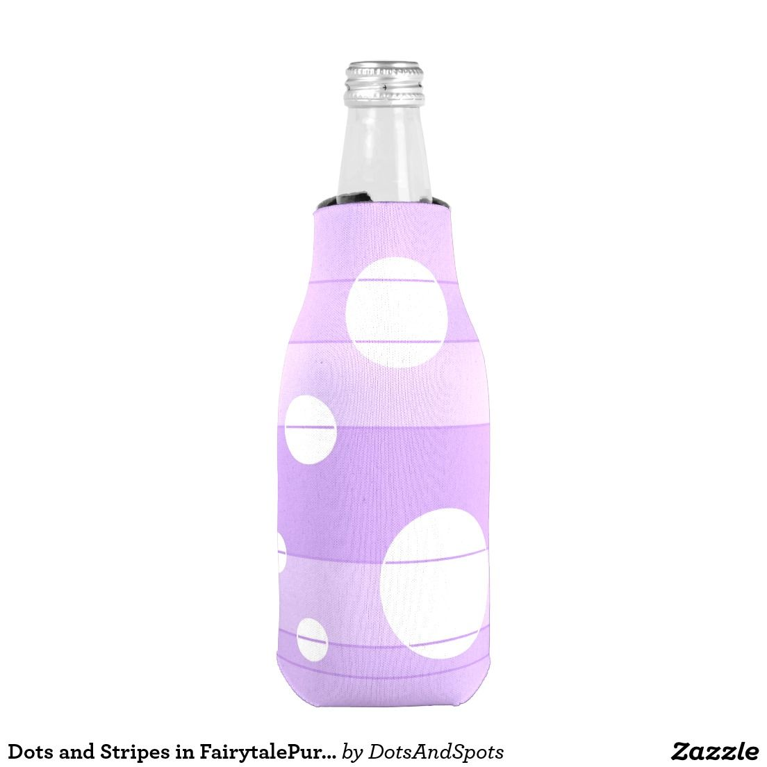 Dots and Stripes in FairytalePurple Bottle Cooler