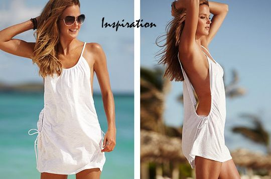 dabeb3c210 Cotton T-shirt bathing suit cover-up-DIY