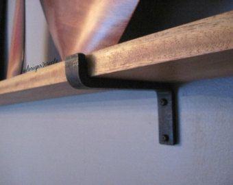 support de tablette en acier brut par designs2create sur etsy querre pinterest shelf. Black Bedroom Furniture Sets. Home Design Ideas