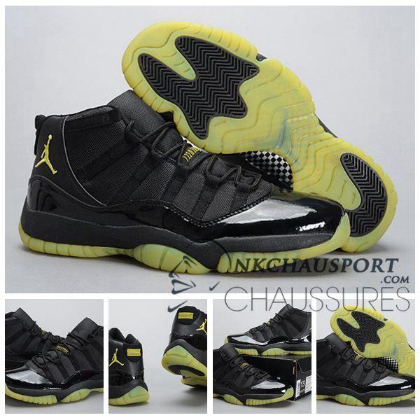 purchase cheap ed218 69125 Nike Air Jordan 11   Classique Chaussure De Basket Homme Cuir Noir-12