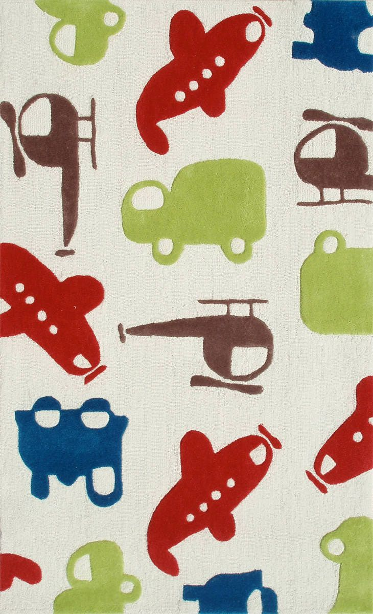 Traffic Controller Modern Kids Rug Cool