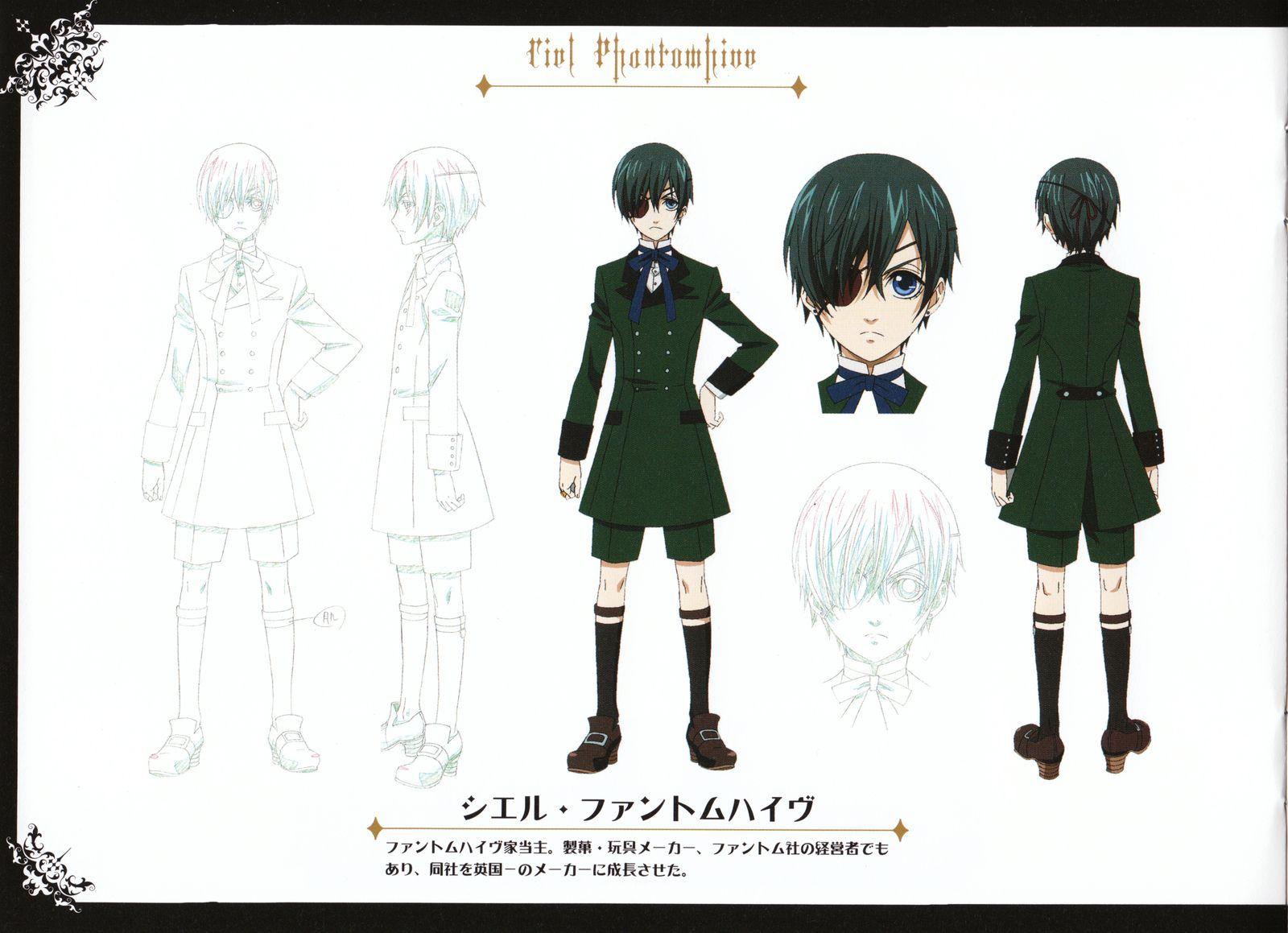 Kuroshitsuji Character Design Book : Black butler ciel phantomhive and