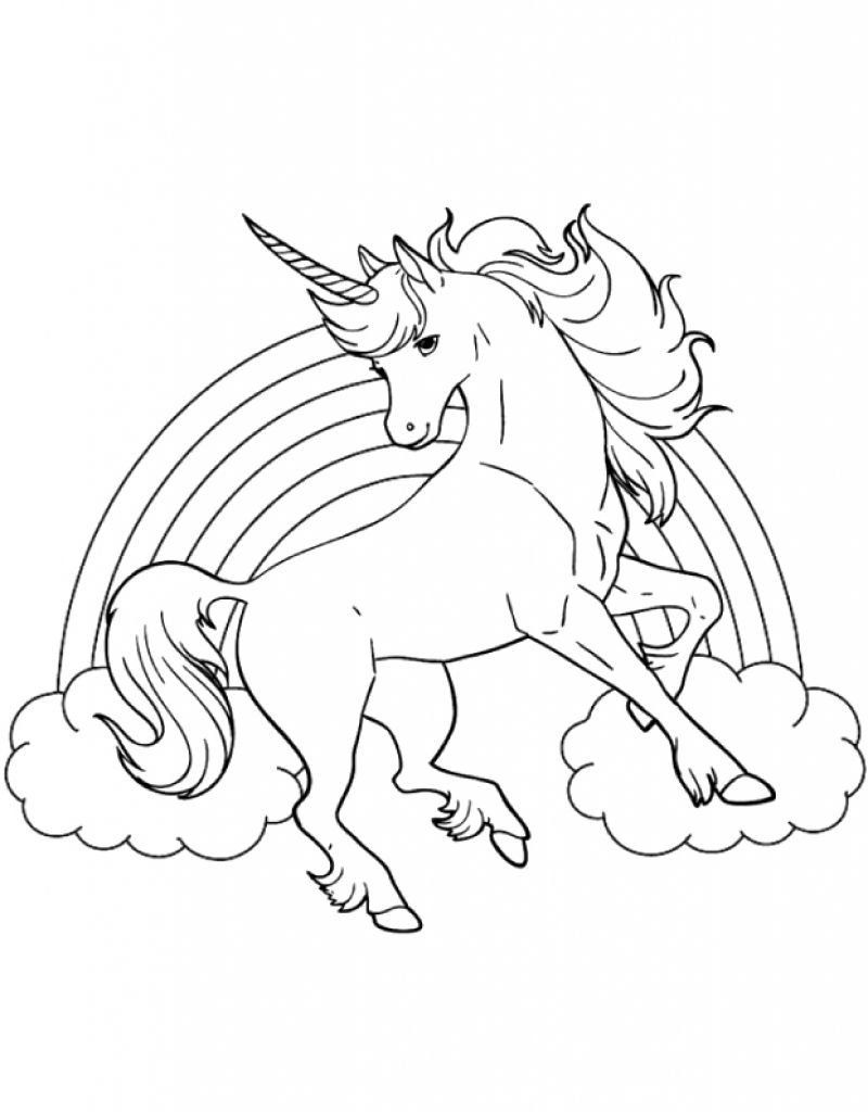 Cartoon Fairytale Unicorn Coloring Pages Free Instant Download