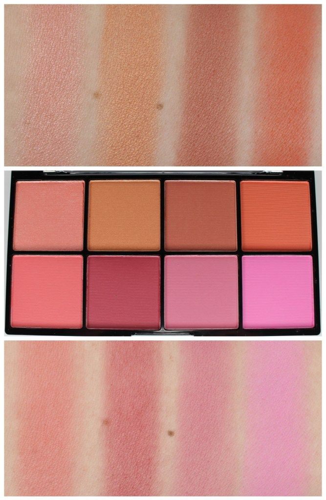 Nyx Sweet Cheeks Blush Palette Review Swatches Spring 2017