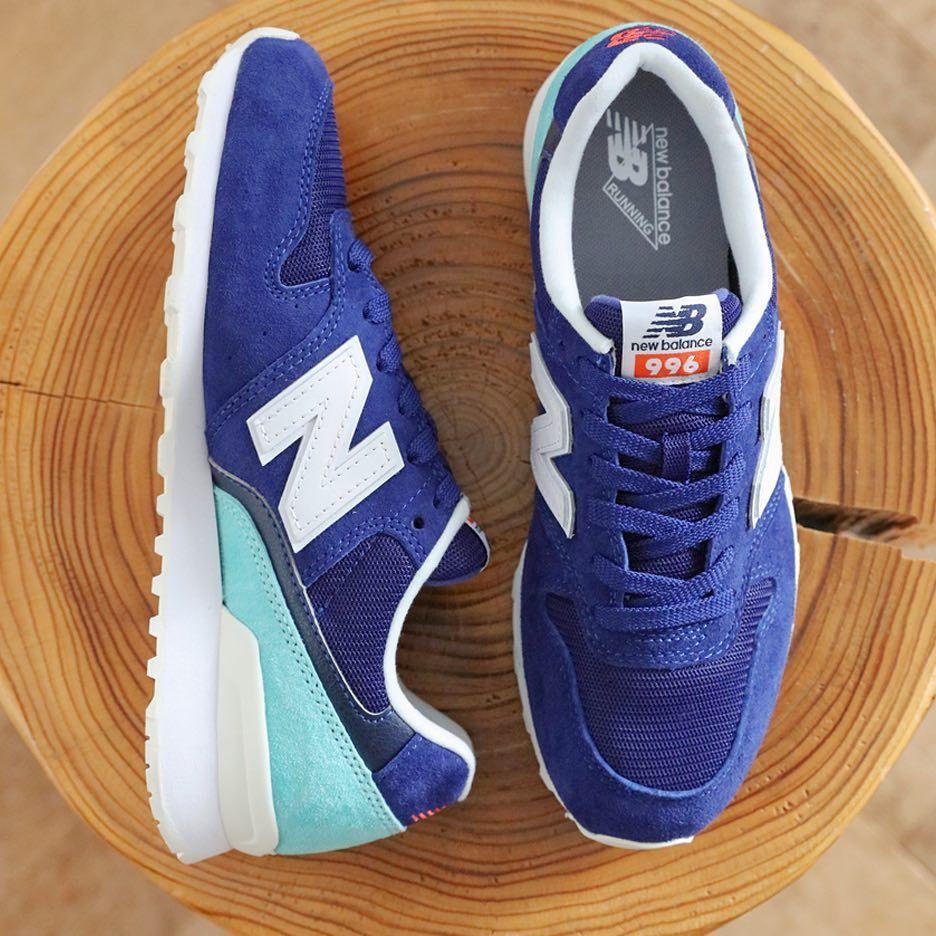 New Balance 996 Newbalance Nb Newbalance996 Bluekicks Blueshoes Kicksonfire Kickstagram Kicks4eva Blue Shoes Sneaker Head Sneaker Stores