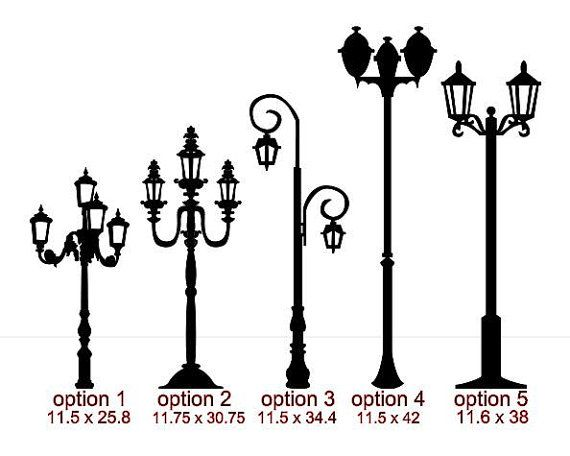 Lamp post vinyl wall art up to 42 inches high by arkansasmade, $10.00