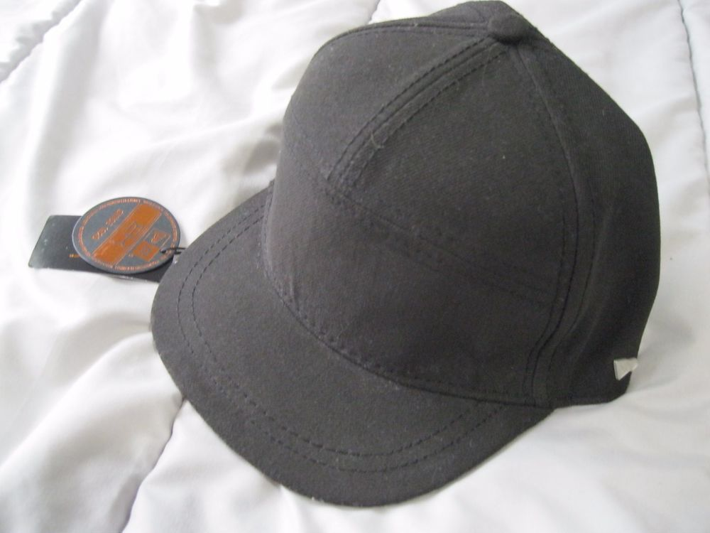 97e40b16d65 New Era Ek Prime Black Sz M Short Bill 7 Panel Fitted Cap Hat ...